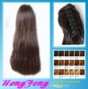 Synthetic ponytail clip stright extension brown hairpieces