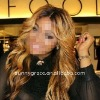 T color Brazilian wavy hair full lace wig