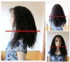 TOP sell 100% brazilain virgin hair kinky curl full lace wig wholesale