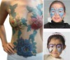 The lovers' Day face&body painting