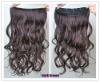 Title New Women Long Wavy Curly Onepiece Clip in Hair Extensions