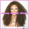 Top Selling Afro curl Indian Remy Full Lace Wigs