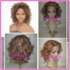 Top Selling Big curl Indian Remy Full Lace Wigs