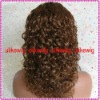 Top Selling Deep curl Indian Remy Full Lace Wigs
