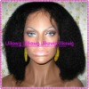 Top Selling Kinky-curl Indian Remy Full Lace Wigs