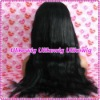 Top Selling Yaki wave 100%Indian Remy Lace Front Wigs