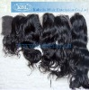 Top closure Brazilian remy human hair piece with factory price
