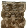 Top grade clip in human hair extension