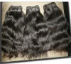 Top quality 16'' natural color body wave 100% India remy hair weft