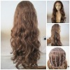 "Top quality 28"" body wave Brazilian remy human hair lace front wig"