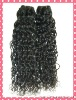 Top quality Peruvian human hair extension with curly texture
