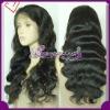 Top quality body wave human virgin brazilian hair full lace wig for black women
