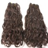 Top quality hair extension virgin brazilian hair wefts super curly style hair color #4