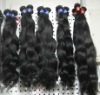 Top quality human virgin brazilian wavy hair no shdding no tangle
