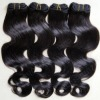 Top quality peruvian remy hair weave body wave different color in stock