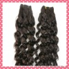 Top quality real human hair spring curl brazilian hair extension