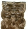 Top qulity Brazilian virgin remy hair clip on hair wefts in stock