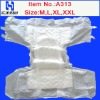 Ultrathin Adult Diaper with Leaking Proof and Blue Layer