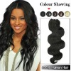 Useful and hot selling Human Hair Body Wavy Weaves (#1B Off Black)