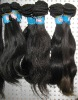 Very soft and silky, natural wave remy indian hair weft