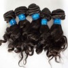 Virgin brazilian remy weft french wave short lenght