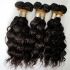 Virgin peruvian hair weft 100% pure human hair