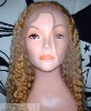 Water wave full lace wig 100 Indian natural human hair wig