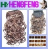 Water weave light brown synthetic ponytail extension pieces