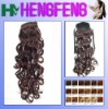 Water weave red brown synthetic ponytail extension pieces