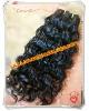 Wavy 100% malaysian virgin hair natural color medium hair weft in stock