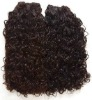 Wholesale 14'' 2# tight curl 100% virgin India remy hair weft accept paypal