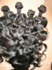 Wholesale 20'' 1b# body wave 100% Malaysian virgin hair weft accept paypal