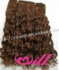 Wholesale Brazilian Remy Hair Extension Virgin Remy Hair Weave Curly Wave 16 Inch