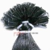 Wholesale V tip human hair extension black color