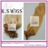 Wholesale and retail human hair extension--- pre-bonded hair extension