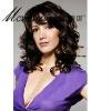 Wholesale dark brown long curly human hair wigs for black ladies