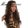 Wholesale long deep wave human hair full lace wig for black ladies
