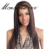 Wholesale long silk straight wave human hair full lace wig for fashion ladies