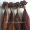 Wholesale top quality silky straight 100% virgin Indian U-tip hair extension