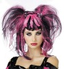 Wig Bad Fairy Black and Pink Costume Wigs