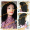 afros kinky curl #1B 14 inch 100% indian remy hair lace front wig in stock wholesale