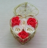 basket soap flower