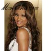beautiful and charming long deep wave synthetic wigs for black ladies