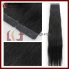 black color PU tape weft hair extension for fashion