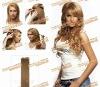blonde European virgin clip on hair extensions