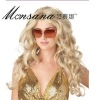 blonde long hotselling fashionable charming 100% Indian remy hair full lace wigs for African American market
