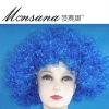 blue sports fans wig