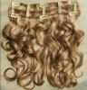body wave clips in remy human hair extensions/weave