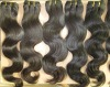 body wave human hair extensions/weaving very smooth and slim hair