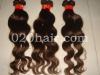 body wave texture virgin hair weft in natural color in stock